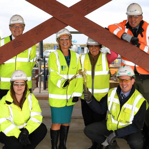 Community Inclusive Trust takes part in signing ceremony at Wates Constructions Poplar Farm School site