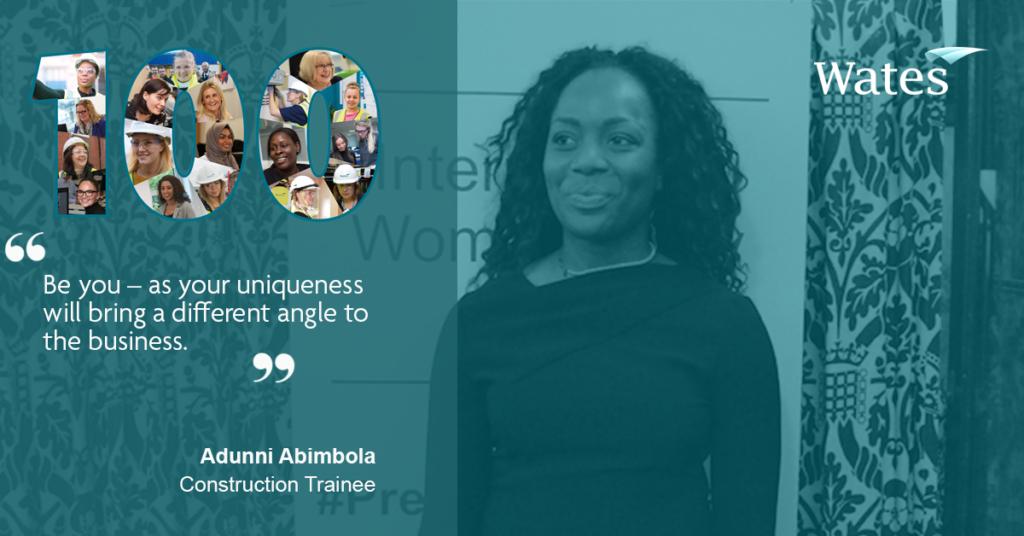 Adunni Ambibola - Construction Trainee, Wates Construction