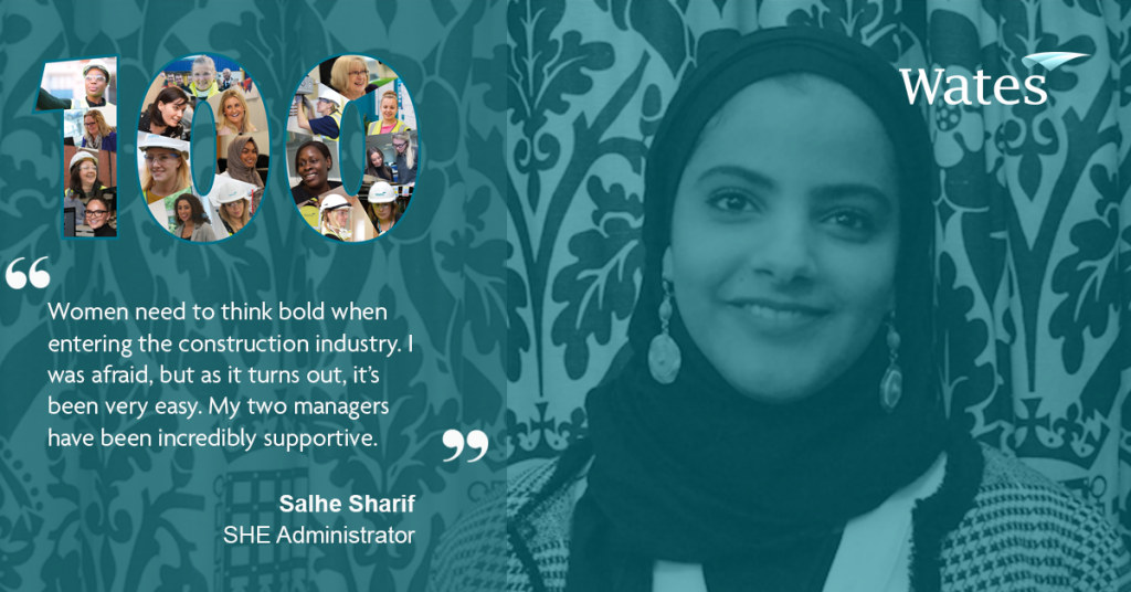 Salhe Sharif - SHE Administrator, Wates Smartspace