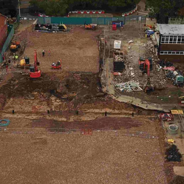 Work continues apace on new school building for Little Heath