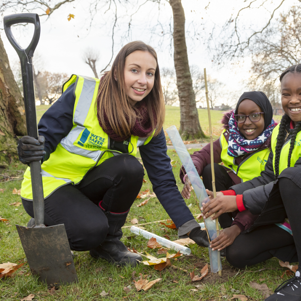 Wates boosts habitat in Brent with new woodland in Roundwood Park