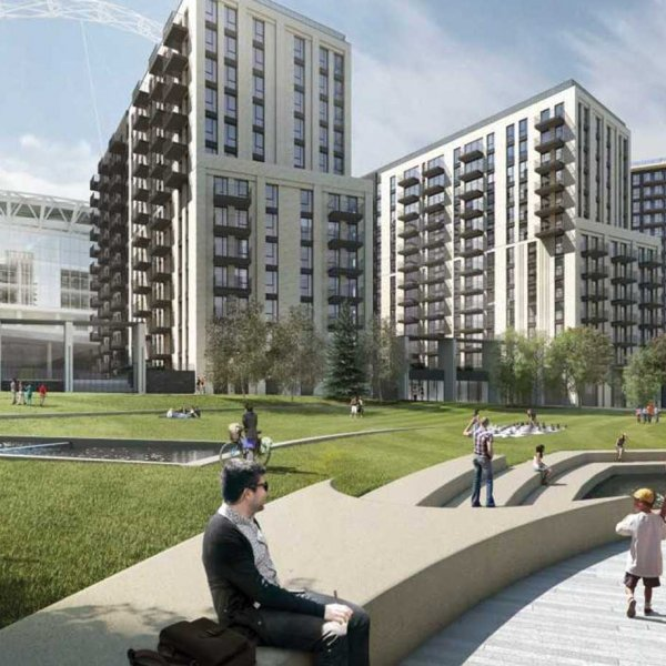 Quintain celebrates topping out of 633 new homes at Wembley Park