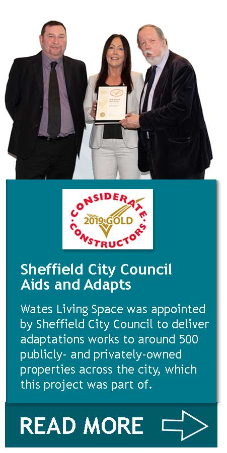 Sheffield City Council Aids and Adapts - Living Space CCS Gold Award
