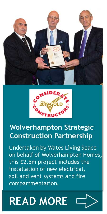 Wolverhampton Strategic Construction Partnership - Living Space CCS Gold Award