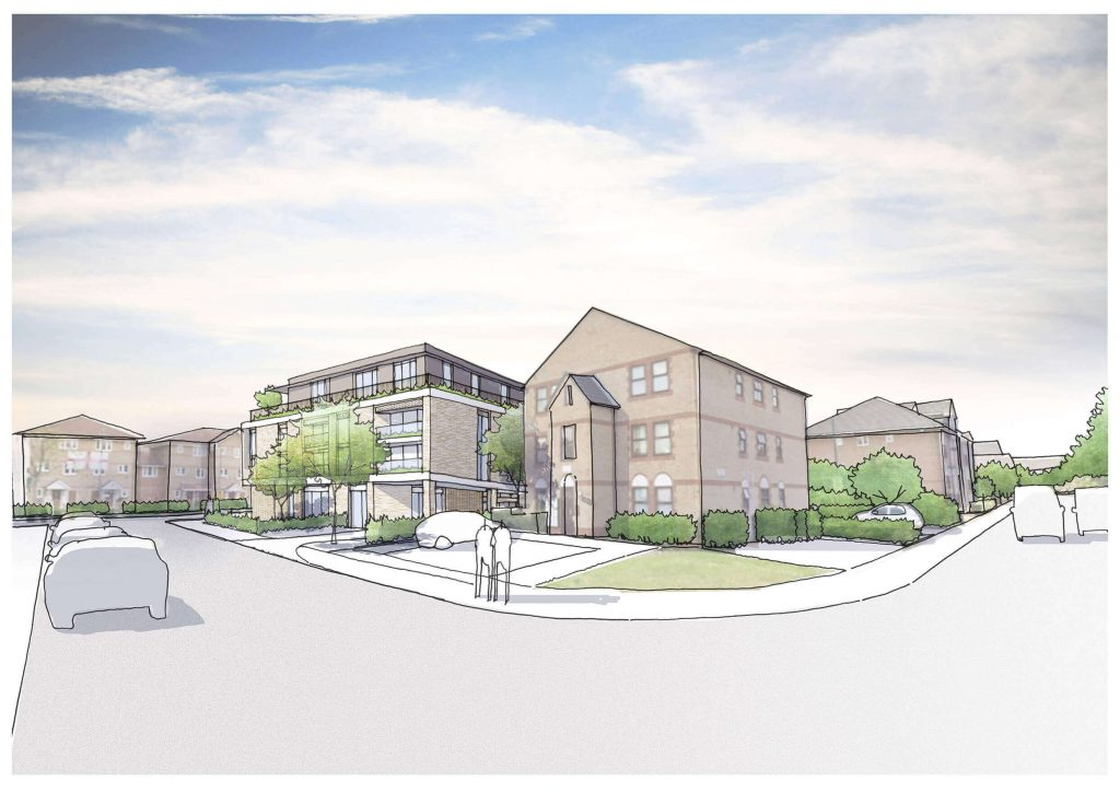 Erith partnership Wates Residential St Fidelis Road Proposed Image