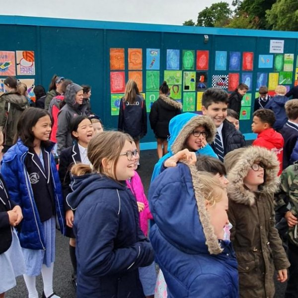 School children's paintings unveiled at Braywick Leisure Centre
