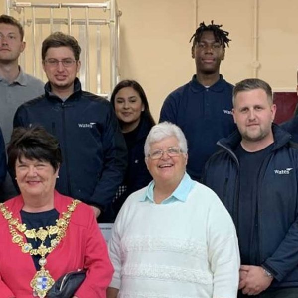 Community hall gets fresh lick of paint during Wates volunteering week