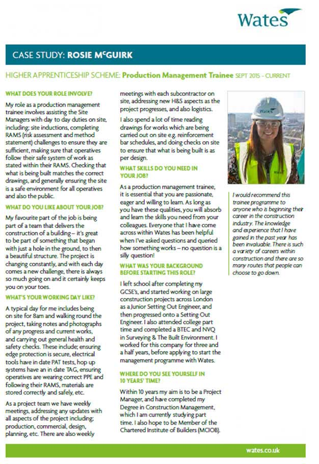 Diversity and inclusion - Wates case study