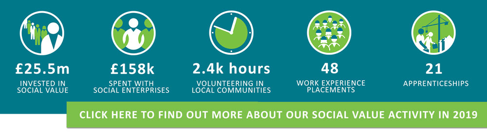 Click here to find out more about our social value activity in 2019