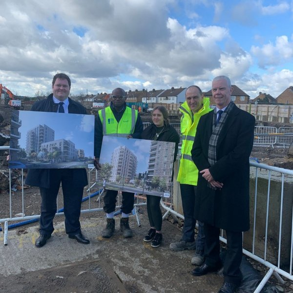 Demolition completes on first site in Haverings 12 Estates Regeneration