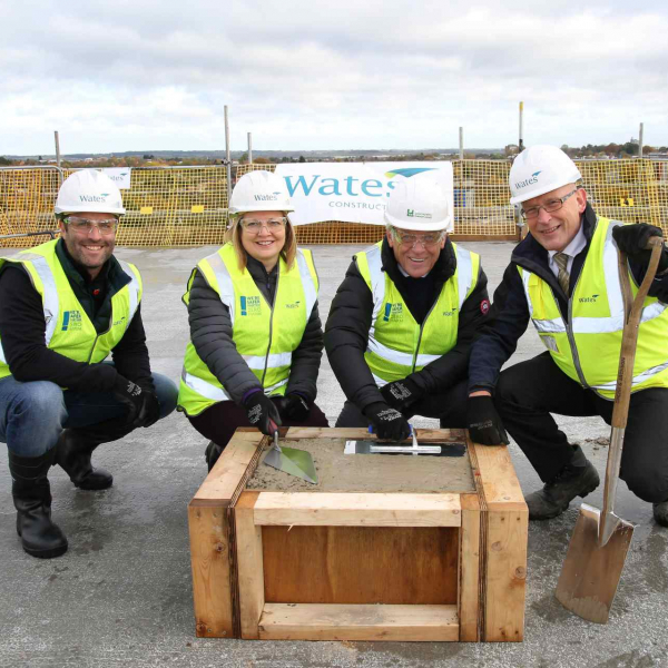 Topping out ceremony held for science park building