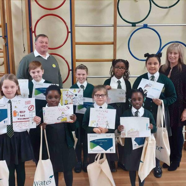 Local primary school children design artwork for Havering site hoarding