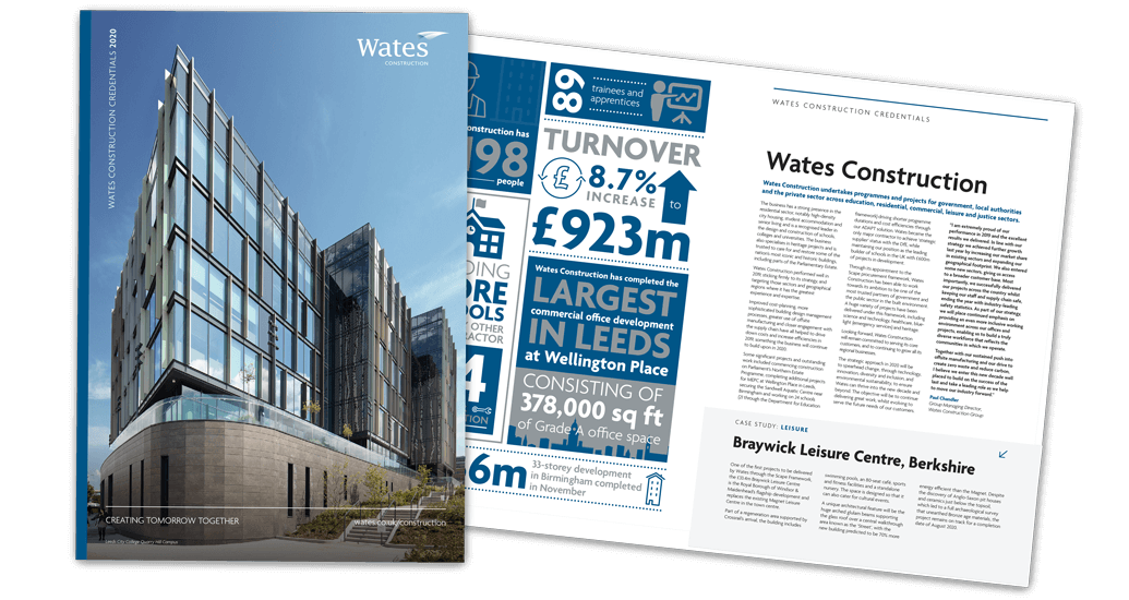 Download the Wates Construction credentials