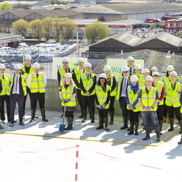 Wates Construction's HMRC hub at 3 Glass Wharf reaches the top