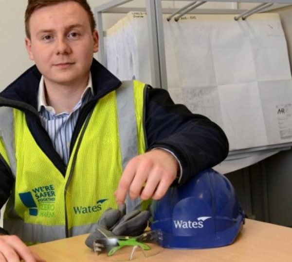 Wates trainee flies the flag for construction in Leicester