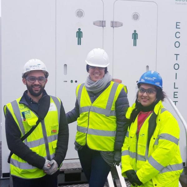 Saving water on a construction site with Innovation Partner Loowatt