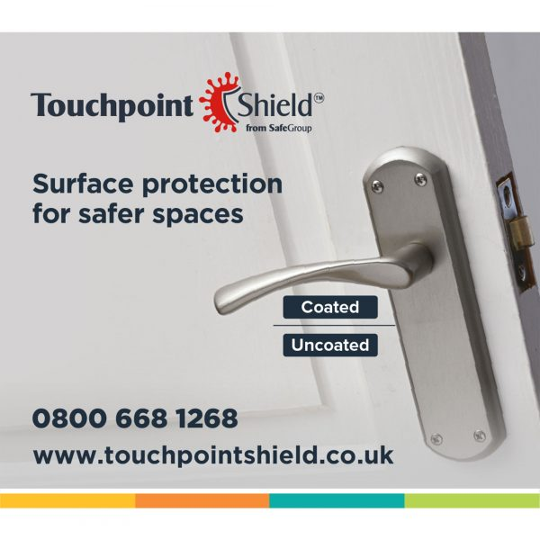 Touchpoint Shield - Unique antimicrobial surface coating for all workplace environments, long lasting protection for everyone.